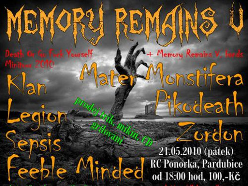 MEMORY REMAINS V. / DEATH OR GO FUCK YOURSELF MINI TOUR 2010