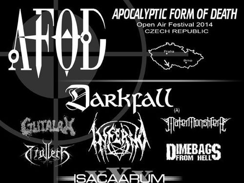 APOCALYPTIC FORM OF DEATH - open air festival 2014 - info