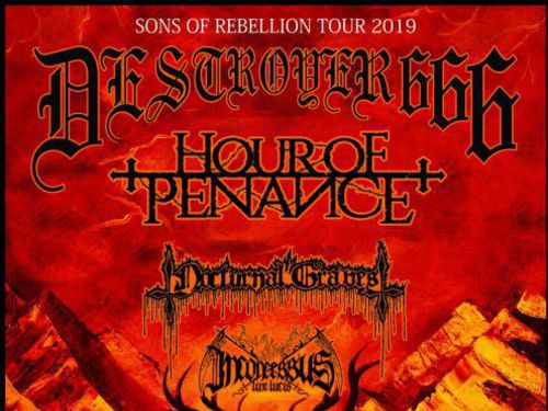 DESTROYER 666, HOUR OF PENANCE, NOCTURNAL GRAVES, INCONCESSUS LUX LUCIS - info