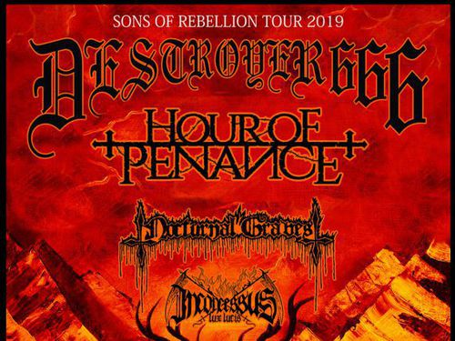 DESTRÖYER 666, HOUR OF PENANCE, NOCTURNAL GRAVES, INCONCESSUS LUX