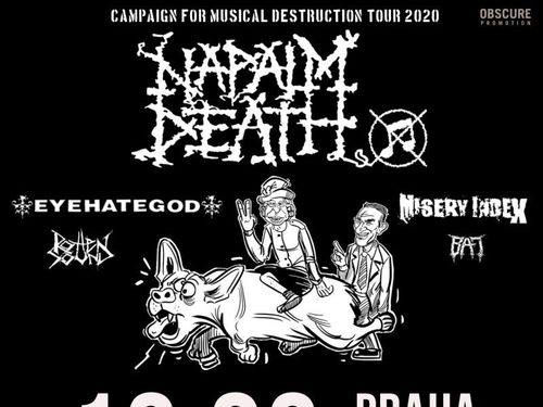 NAPALM DEATH / EYEHATEGOD / MISERY INDEX / ROTTEN SOUND / BAT - info